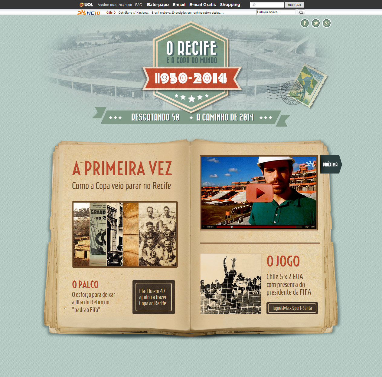 1950 – 2014: RECIFE AND THE WORLD CUP